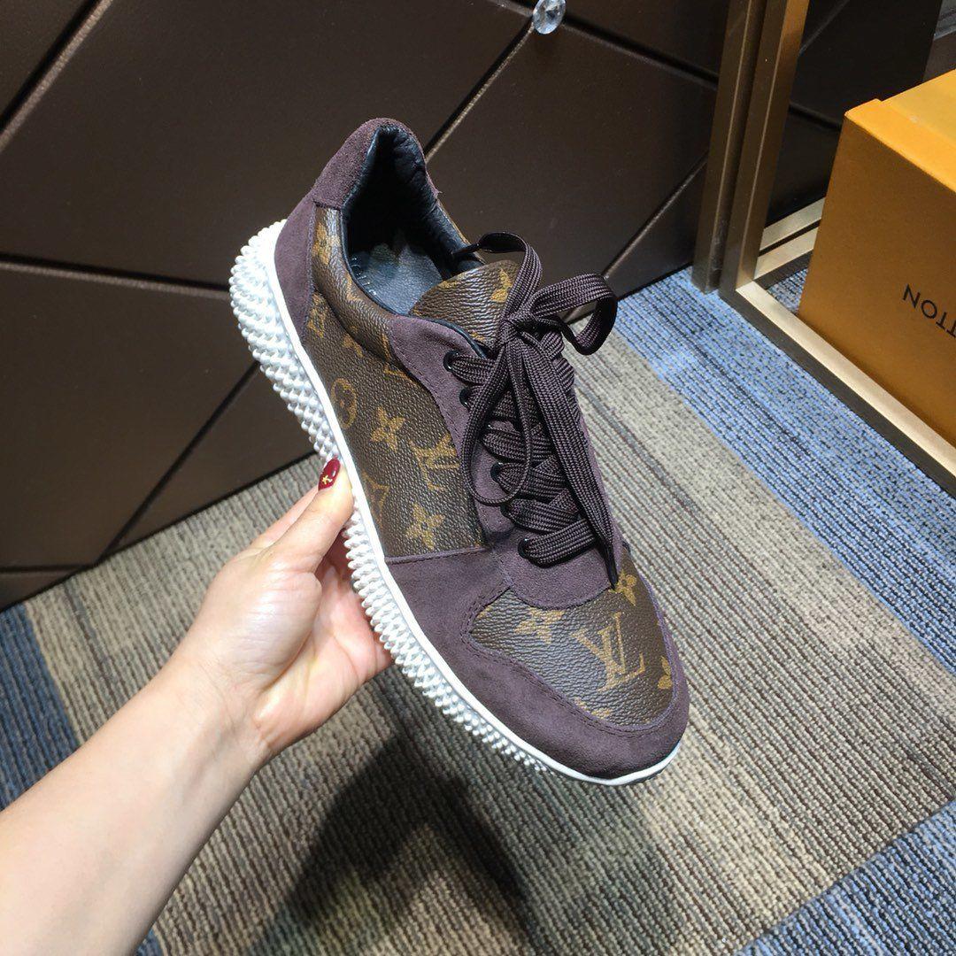 2020 zapatillas de deporte de Lujo para hombre surface en cuir brun lettres imprimées conception marques de luxe Chaussures de sport plein air