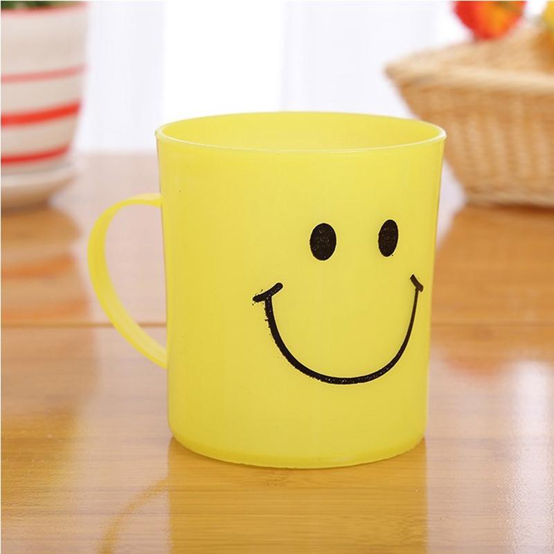 24X أطفال بلاستيك مبتسم الوجه الكؤوس، تناول أكواب حزب كامب / طقم سفر