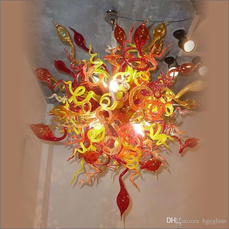 Zhongshan Fabricante Murano Iluminación Lámparas MULTI COLOR MANO Mano Lámparas de vidrio Lámpara de vidrio contemporáneo para sala de estar