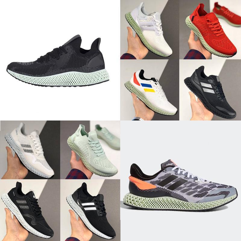 최고 품질의 새로운 Futurecraft Alphaedge 4D 실행 1.0 팔리 흰색 녹색 회사는 신발을 실행 남성 여성 디자이너 트레이너 스포츠 SneakernOD3 번호