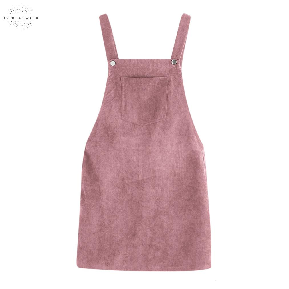 Women Ladies Spring Dress Pockets Sleeveless Soft Shirt Mini Above Knee Mini Strap Bib Front Pockets Overall Pinafore Dresses 2019