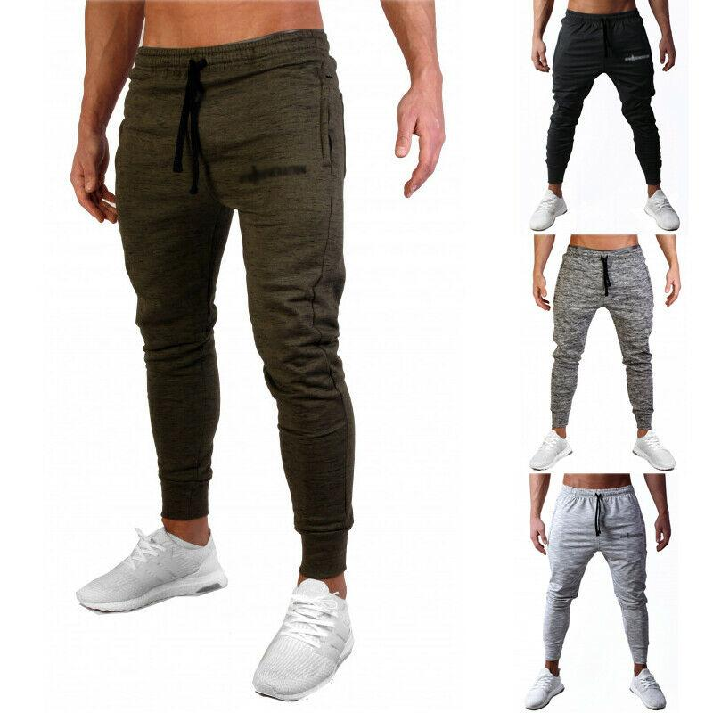 2019 Fashion Brand New Autumn Mens Solid Color Sport Gym Pants Slim Fit Running Joggers Casual Long Trousers Sweatpants