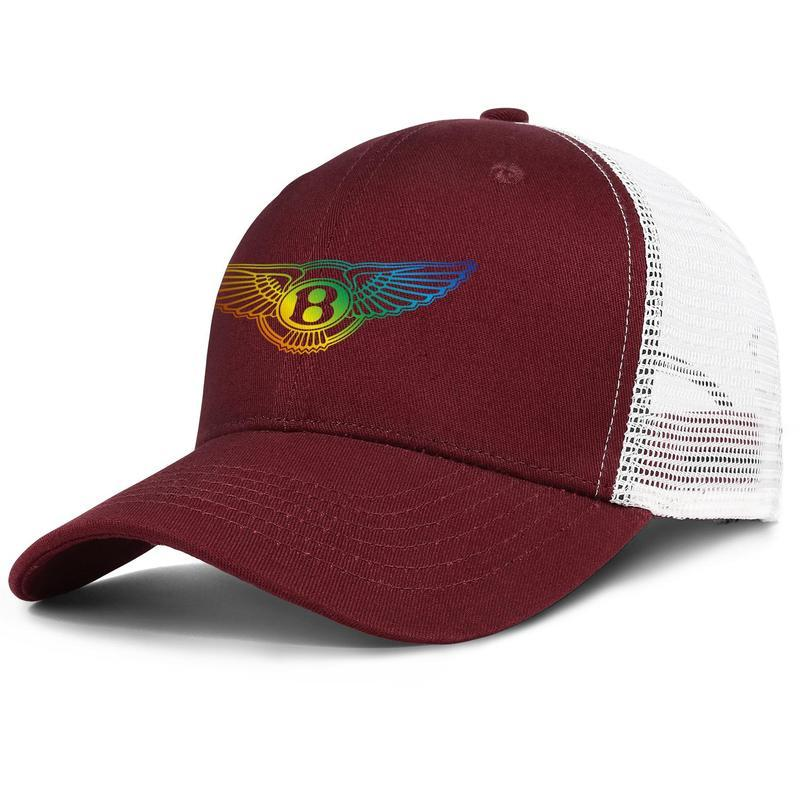 coche de la manera Bentley regtro modelos de la bandera América unisex gorra de béisbol Equipada único Trucke sombreros Gay logotipo orgullo del arco iris gris sitio Web de Mercury