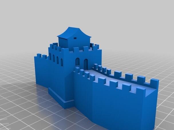 Die Große Mauer Individuelle Um eine hohe Qualität hochpräzisen digitalen Modelle 3D-Druck-Service Klassische ST2064-Objekte