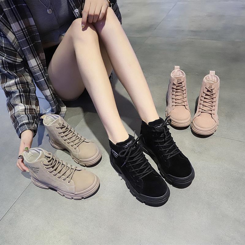 سقوط 2019 أحذية جديد الكورية الطبعة طالب شارع شقة أسفل الأحذية الرباط واحدة أحذية الوظائف