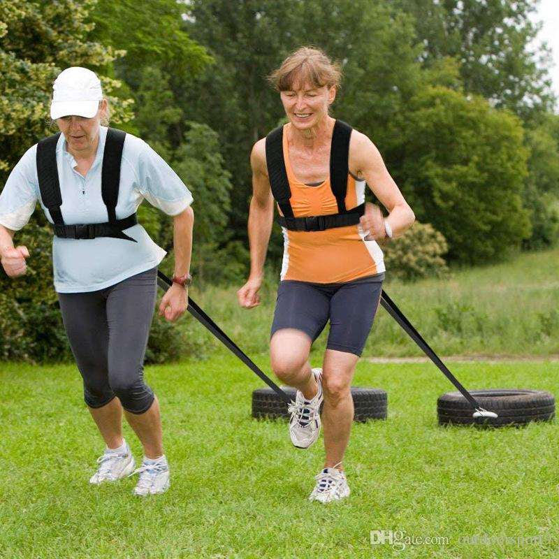 썰매 타이어는 야외 스포츠 스포츠 Euipment 액세서리에 대한 운동 패드 어깨 벨트를 실행 스트랩 피트니스 저항 강도 훈련 이겠지