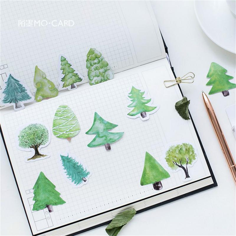 46 Pcs Trees Bookmarks Lovely Cartoon Novelty Book Reading Item Creative Gift for Kids Children Stationery
