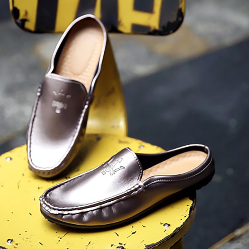 Los hombres zapatos de conducción de alta calidad de manera mirada del resbalón no deslizan los zapatos de los hombres ocasionales de los hombres de los holgazanes de Heelless guisantes