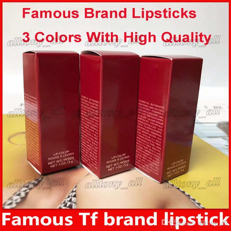 2019 TF marka ruj Marka Mat Güzellik dudak makyaj Koleksiyonu Kayıp Kiraz Dudak rengi Besleyici Kırmızı Rouge Bir Levres Ruj