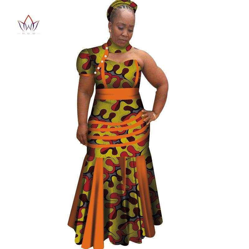 Новые Dashiki Женщины Длинные Платья с Платок Базин Рише Африканские Лоскутные Платья для Женщин Африканский Стиль Одежды WY4070