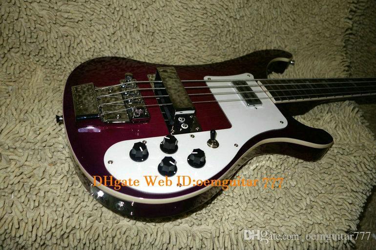 Púrpura 4 Cuerdas 4003 bajo eléctrico de dos entradas de alta calidad de China guitarras bajas CALIENTE