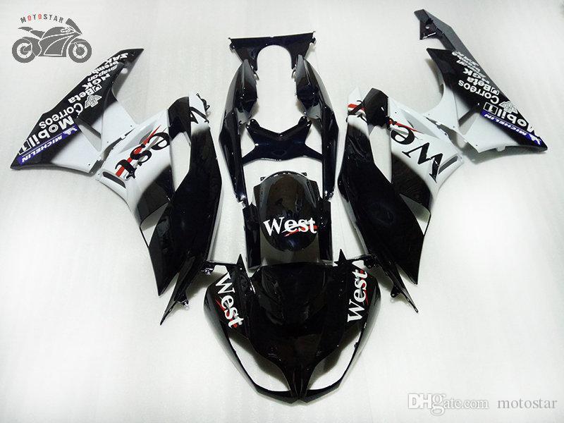 Kawasaki Ninja ZX-6R 09-12 ZX6RブラックウエストフェアリゾーンZX 6R 636 ZX636 2009 2011 2012