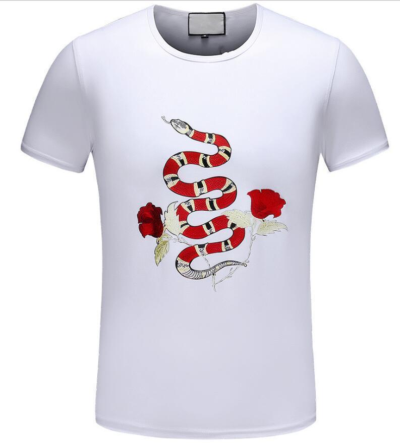 Para hombre negro de la flor abeja de la manera camiseta de verano causal Tops hococal diseñador camisetas de manga corta de los hombres camisetas Ropa casual M-3XL Camiseta