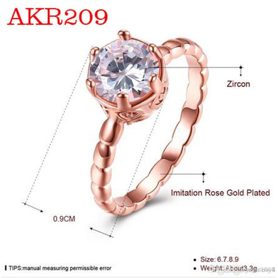 19SS Nueva marca de diseño clásico del color oro de los anillos de boda de lujo de acero inoxidable para la joyería de las mujeres 2018 del envío libre de L5