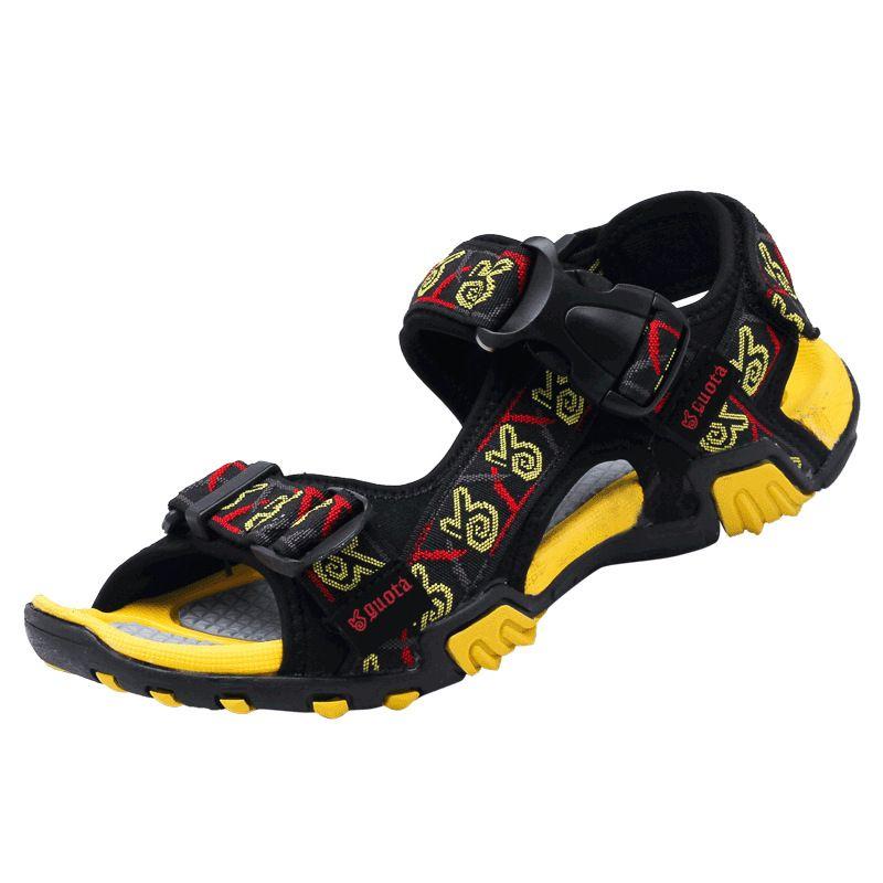 Обувь Мужчины Летние Виды Спорта Мужчины Открытый Мужчины Сандалии Натуральная Кожа Англия Стиль Полые Мужские Сандалии Корова Кожаные Сандалии