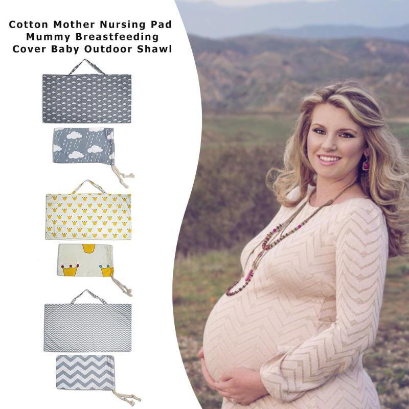 Cotton Mother Nursing Pad Mummy Breastfeeding Cover Baby Outdoor Apron Shawl Anti-Emptied Feeding Cover Scarf Towel
