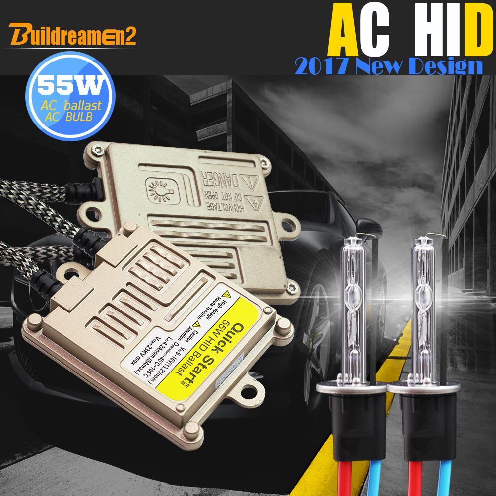 Buildreamen2 55W 9005 9006 880 881 H1 H3 H7 H8 H9 H11 Auto HID Xenon Kit 4300K AC балласт лампы автомобиля света фар DRL Противотуманные фары