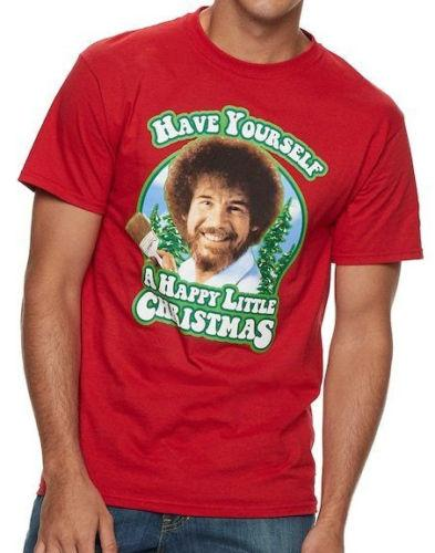 Do It Yourself Christmas Shirts.Bob Ross Painter Have Yourself A Happy Little Christmas T