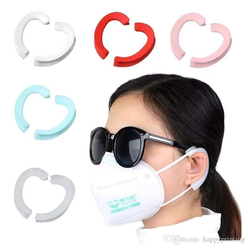 100pcs / 50pairs universale Maschera Artefatto silicone anti-perdite e il dolore-resistenti paraorecchie comodi dell'orecchio protezione riutilizzabile Maschere Artefatti
