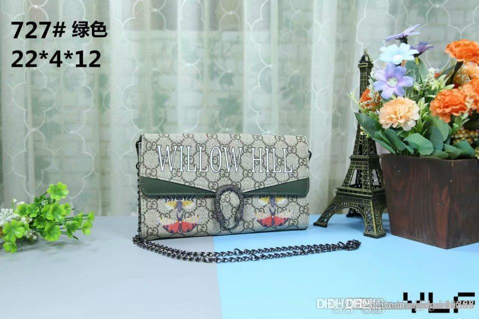 Mode für Frauen Designer-Handtaschen Frauen Classic Mini Schultertaschen Totes Schwarz Mini-Kette Taschen