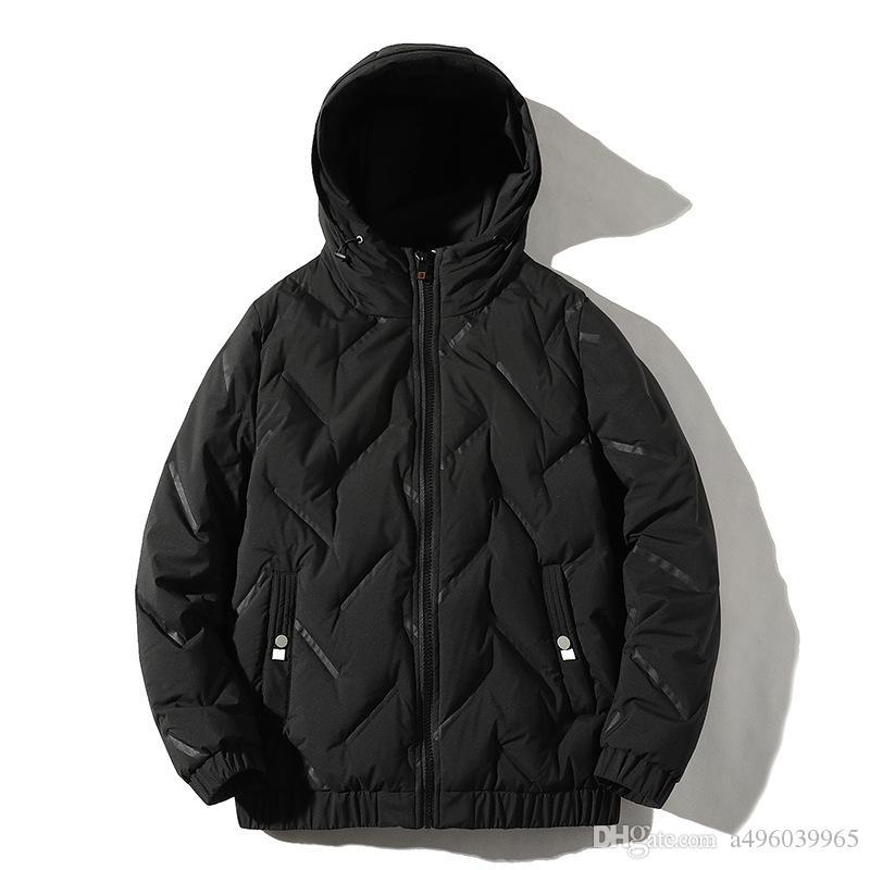 2019 fábrica directamente de la alta calidad de 90% de pato blanco abajo cubre la chaqueta de los hombres de nieve caliente parkas masculina Marca de ropa de invierno por la chaqueta de abrigo