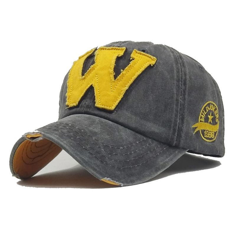 baseball cap in spring W-letter embroidered duck tongue cap in summer outdoor sunscreen shade quick-selling