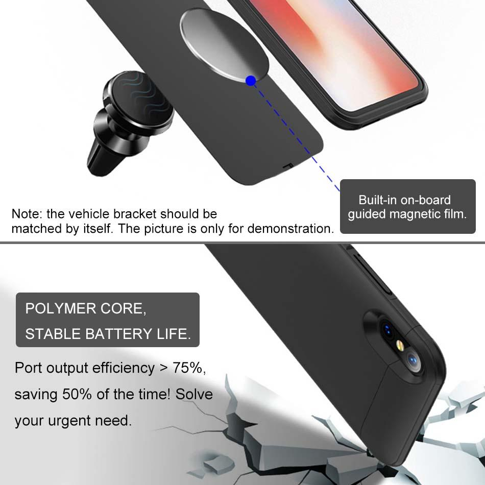 Hot Sale iphone Power bank Battery Case Portable Backup Battery External Rechargeable Cover Case For iPhone 6 7 8 Plus With Package