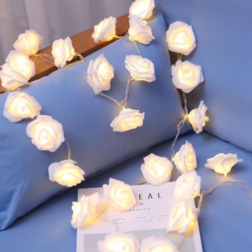 1M 2M LED Gül Çiçek Dize Led Peri Işıklar Tatil Sevgililer Günü Düğün Doğum Günü Partisi Bahçe Aralık Powered Fabrikası Pil