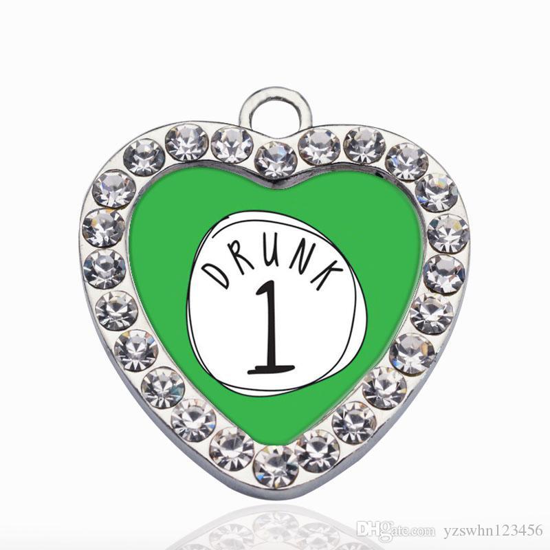Drunk One Circle Charms Charms colgante de moda accesorio de la joyería que hace el hombre mujer joyería de estilo retro