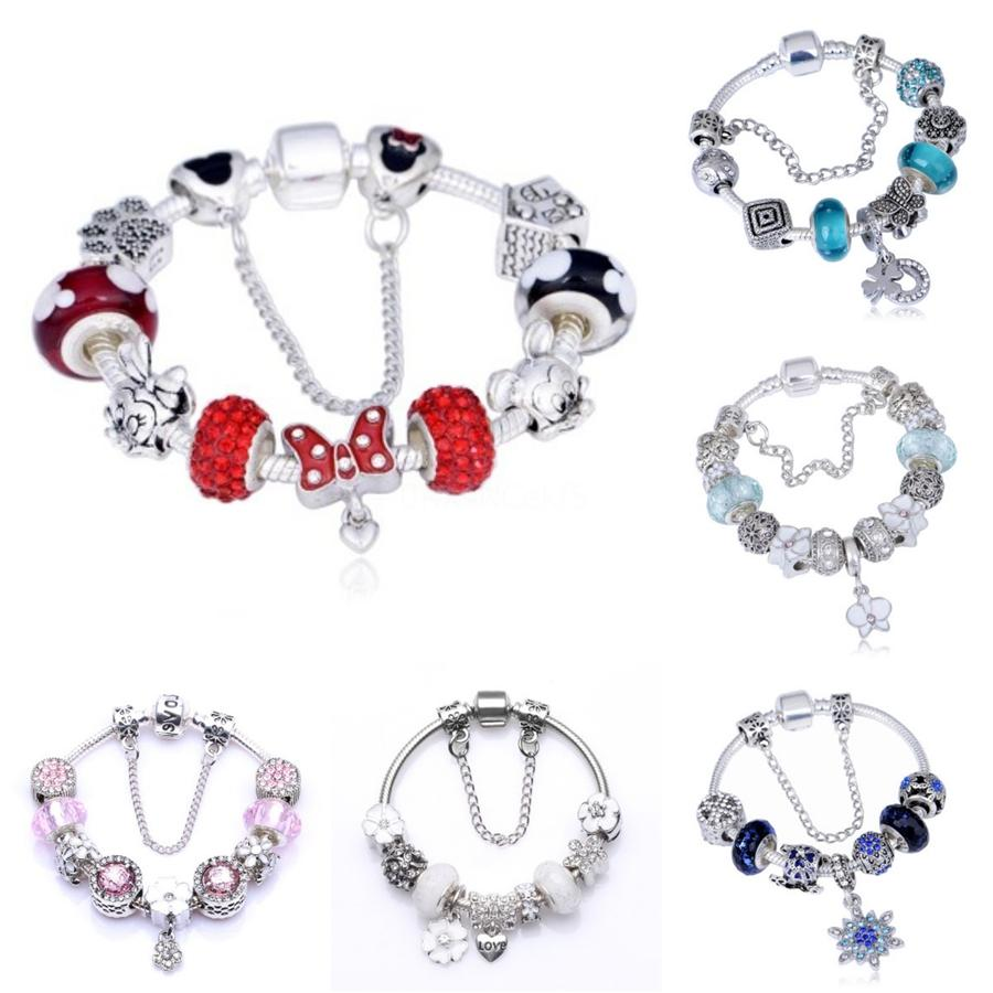 2020 New Fashion Reflexions Bracelets For Women & Men Diy Beaded Bracelets Charms Belt Alloy 925 Jewelry Reflexions Collection Sh190925#673