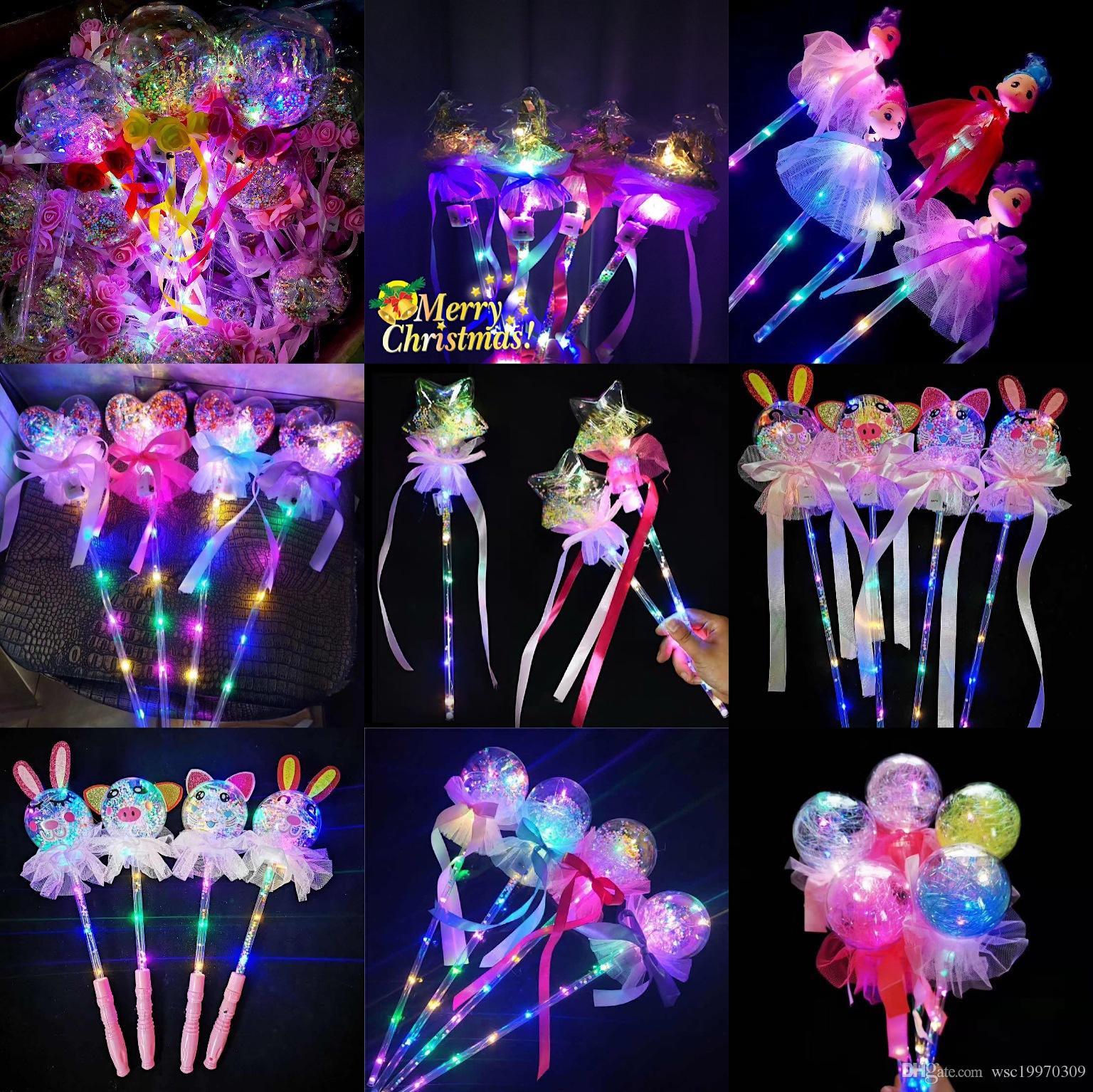 Weihnachten neue LED-Blitz Welle Kugel Zauberstab glüht Stick Sterne Ball Spielzeug kleine Fee glüht must-have Weihnachtsdekoration