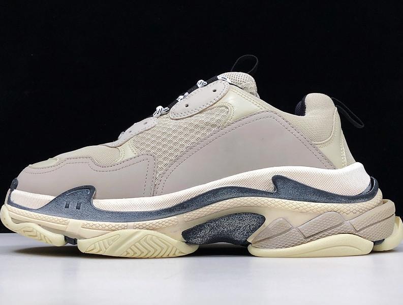 Erkek Spor Casual Ayakkabı Üçlü S Düşük Eski Baba Sneaker Kombinasyon Taban Çizme Womens Runner Ayakkabı Üst Kalite