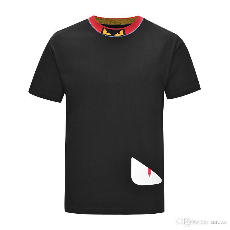 Hombres de diseno t camisas del diseñador de moda para hombre de la ropa ocasional del verano de Calle diseñador de la camiseta del remache Mezcla del algodón de cuello redondo manga corta