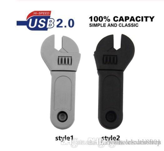 Wholesales price Mini Tool Spanner Cute USB Flash Pen Drive 64g 8gb 16gb 32g 4gb USB 2.0 Gift Souvenir Pendrive Usb Stick Flash Bellek Cle