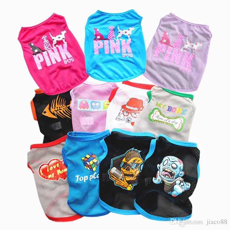 Cute Pet Dog Cat Vest Clothes Small Funny Puppy Soft Coat Jacket Summer Apparel Cartoon Clothing t shirt Cheap Jumpsuit Outfit Pet Supply