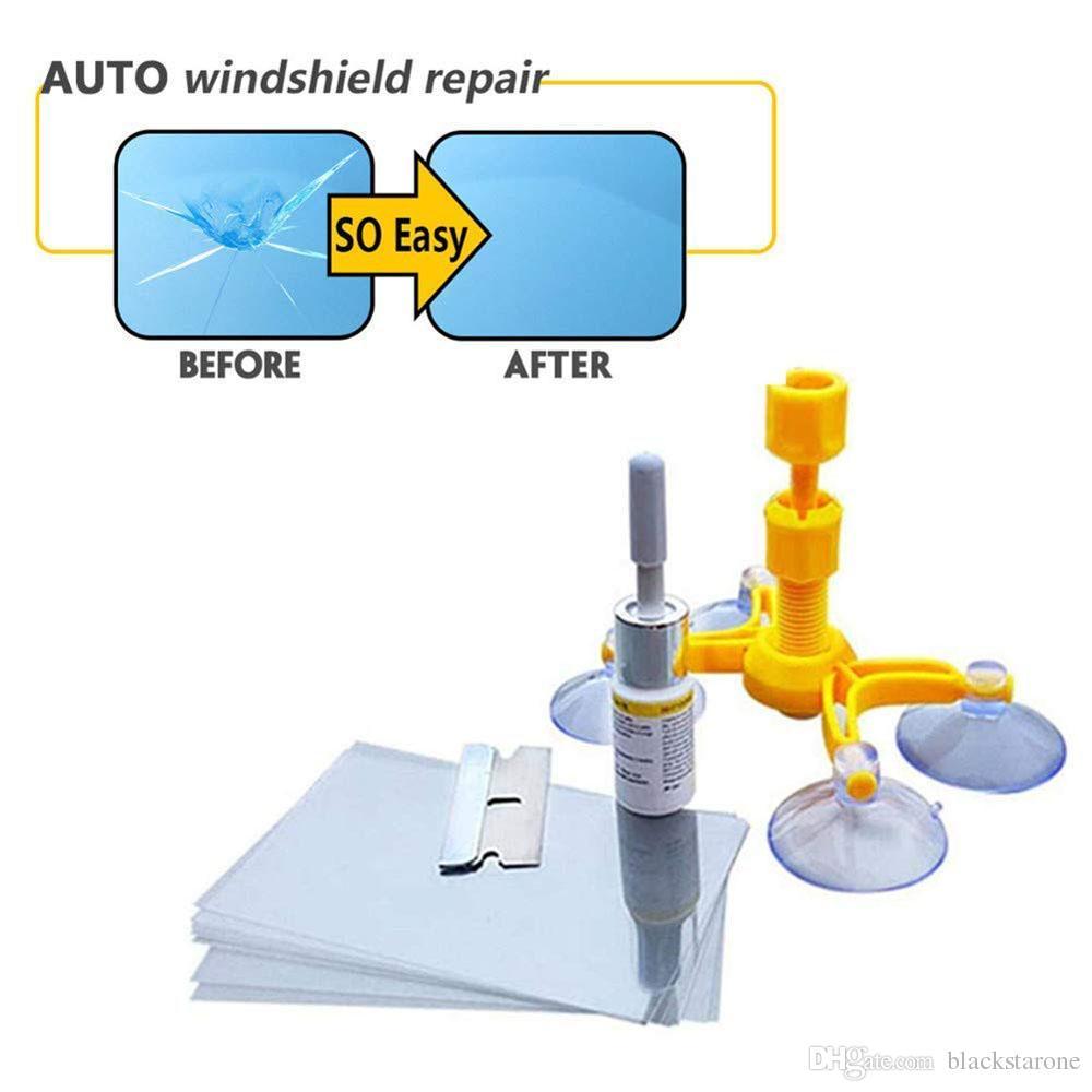 New Car Window Glass Crack Chip Windscreen Windshield Repair DIY Tool Kit Set Windshield Repair Kit, DIY Car Windshield Repair Tool Kit Set