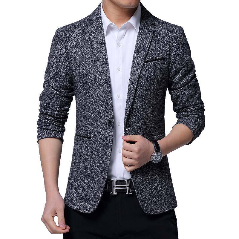 Trajes para hombres Blazers 2021 Estilo de otoño Traje Casual Coreano Slim Fit One-Button Juvenil Jacket