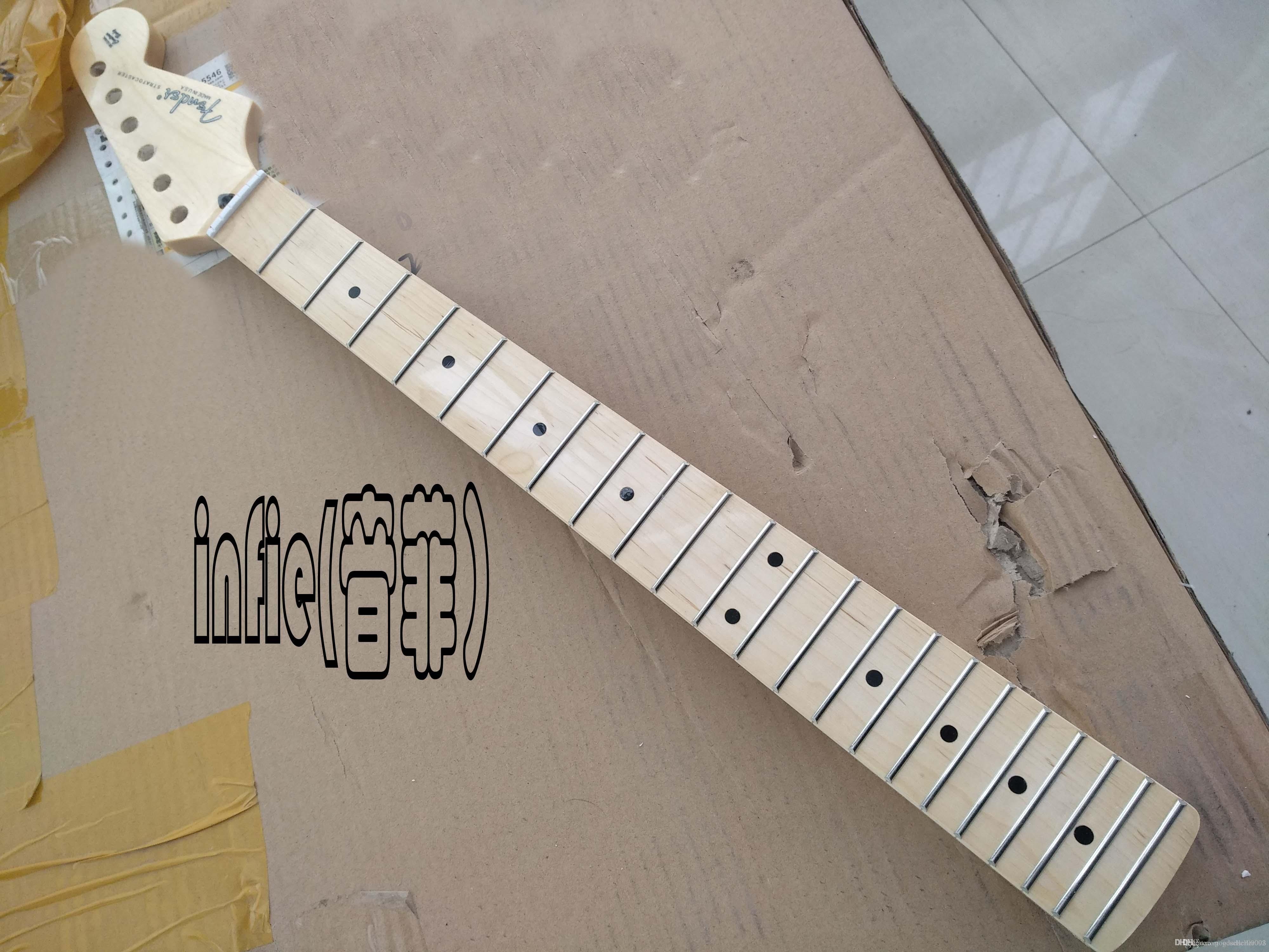 الشحن السريع الجديد ستراتوكاستر الغيتار الكهربائي الحادي والعنق 22 الحنق القيقب الأصابع الورنيش بعد الرقبة حزام الغيتار