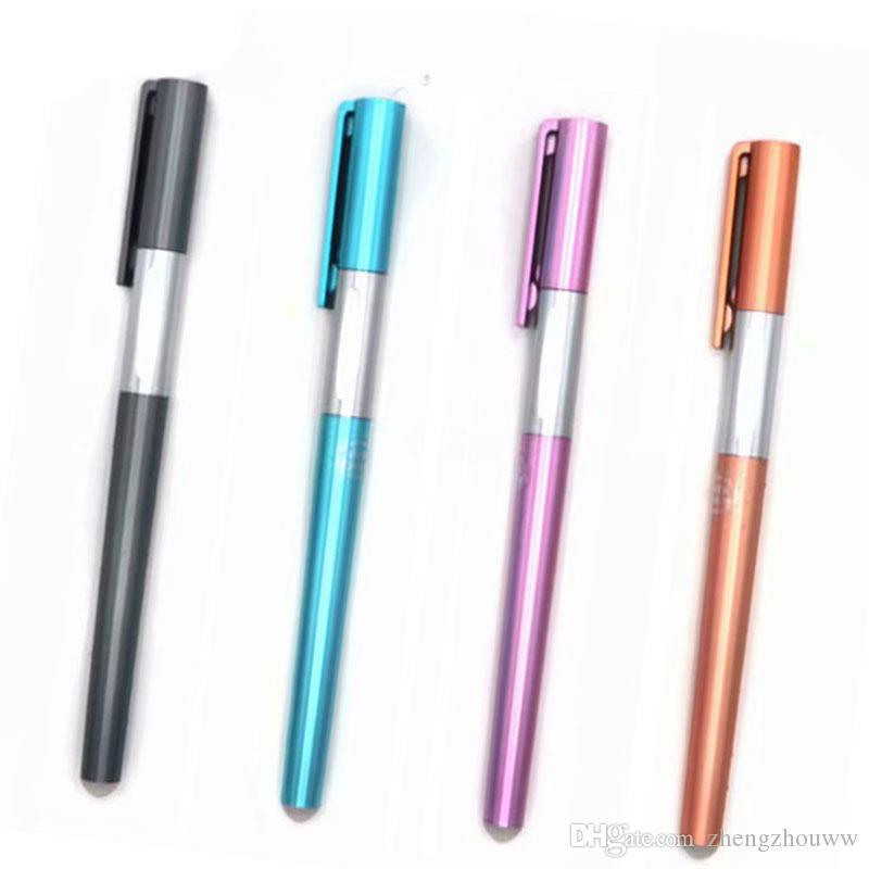 Moda Silinebilir Kalem Kolu 0.38mm Mavi / Siyah Mürekkep Kalem Çubuk Okul Ofis Yazma Malzemeleri Çocuklar için Kırtasiye