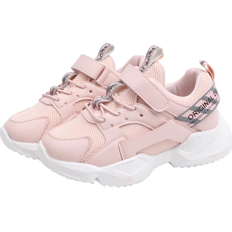 breathable medium and large children's anti-skid running tide 2020 male and female children's mesh Sports shoes sports shoes casual