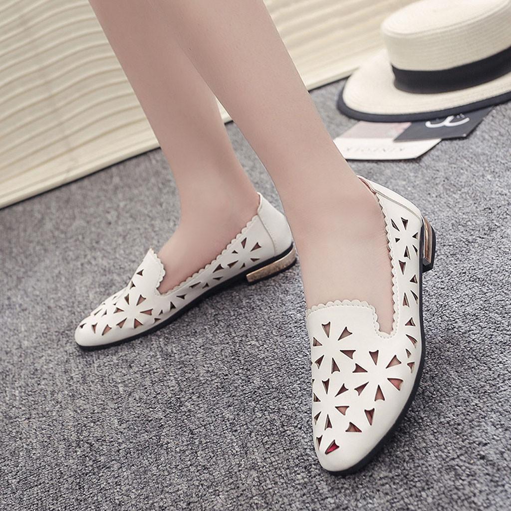 SAGACE Flats İçin Kadınlar Casual Rahat Çiçek Flats Kadınlar Katı Deri Bayan Ayakkabı Kadınlar Düz Günlük Ayakkabılar 42.611 Ayakkabılar