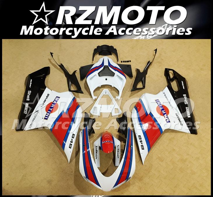 Injection Mold New ABS Fairings set Fit For Ducati 848 1098 1198 1098s 1098R EVO 2007 2008 2009 2010 2011 2012 Free Custom MARTINI