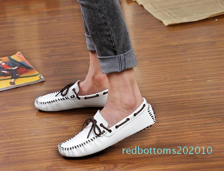 Hot Sale-Nouveau venu Mode-confort semelle souple pour hommes appartements chaussures Gommino hommes mariage Retrouvailles de bal formelles formelles chaussures bateau pour homme 10R
