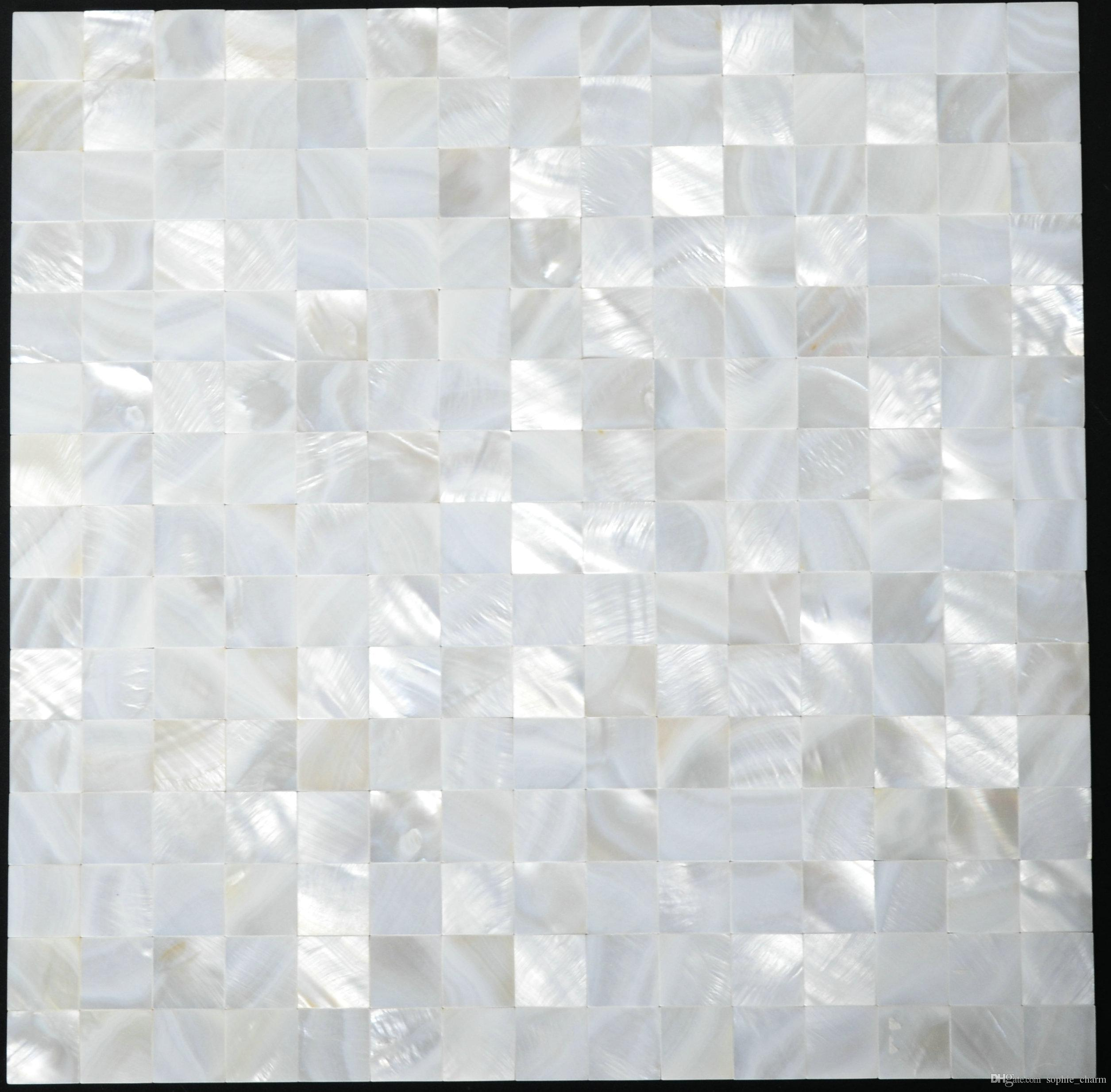 20x20mm Groutless White Mother of pearl tiles shell mosaic backsplash seamless mother of pearl bathroom wall tiles MOP006
