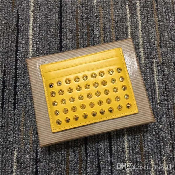 유럽과 미국의 블랙 소 가죽 지갑은 가장자리 블루 바이올렛 색 손톱 손톱 진주 카드 가방 남성과 여성 비즈니스 카드 패키지를 빨간색