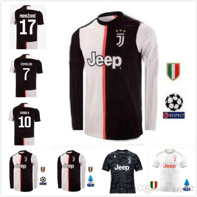 hot sale online be444 68cbf 2019 New 2019 #7 RONALDO JUVENTUS HOME Long Sleeve Soccer Jerseys 19 20  JUVE #10 DYBALA MANDZUKIC #11 D. COSTA AWAY Football Uniforms From Ggg512,  ...