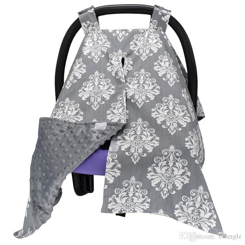 Nouvelle écharpe infirmière couvrante Tablier pour l'allaitement maternel et bébé Car Seat Cover 100x75cm Garçons Filles poussette Couverture polyvalent