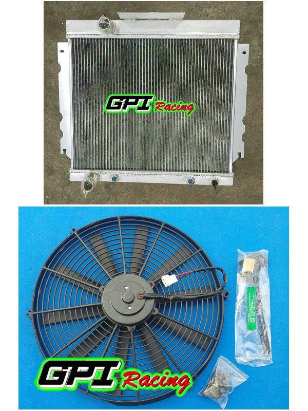 GPI completa de aluminio del radiador + FAN para Valiant VG HEMI 6 Cil