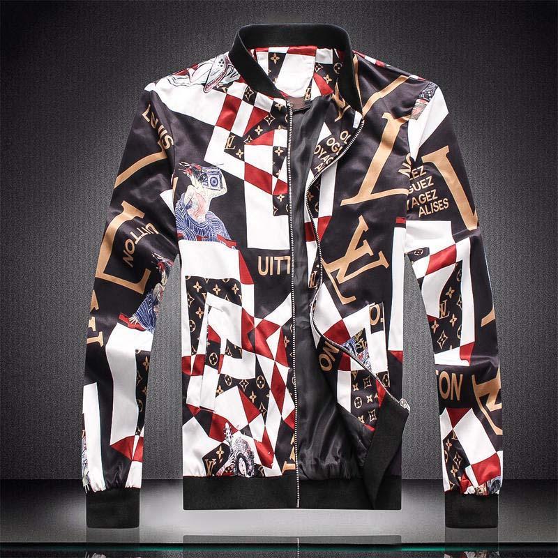 2020 hip hop Marca italiana Medusa chaqueta chaqueta de los hombres de calidad estupenda informal de impresión de los hombres de letras del patrón liberan