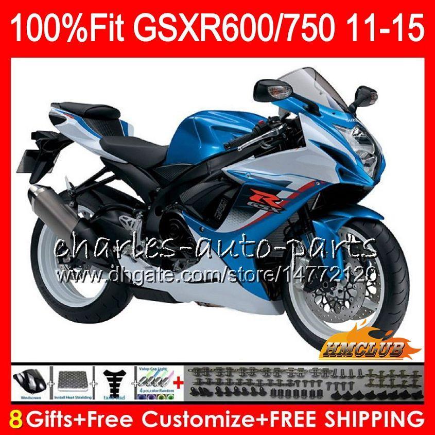 Blue Motorbike Windshield for Suzuki GSXR600 GSXR750 600 750 2011-2016